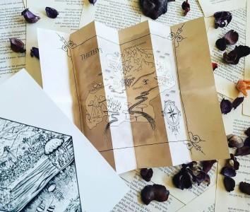 Postkarte und Landkarte von Thethys